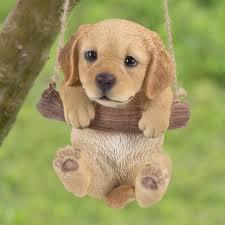 golden retriever. Interesting Retriever HiLine Gift Ltd Hanging Golden Retriever Puppy Statue U0026 Reviews  Wayfair Inside