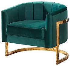 velvet barrel chair. Plain Barrel Meridian Furniture 515Green Carter Upholstered Velvet Barrel Accent Chair  With Gold Stainless Base 315u0026quot To