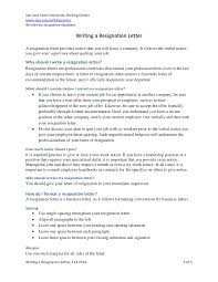 29 Resignation Letter Examples In Pdf Examples