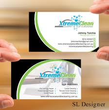 Carpet Cleaning Business Cards Designs Modern Personable Business Business Card Design For Xtreme