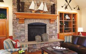 stone decortion fireplace refacing design