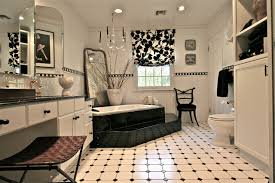 white bathroom lighting. Nice-bathroom-décor-with-black-and-white-tiled- White Bathroom Lighting