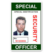 Pvc Officer Id Special Card Security