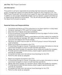 Project Manager Job Description Sample Project Coordinator Job Description 8 Examples In Pdf