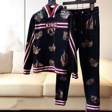 <b>2019 new fashion</b> arrival <b>crown</b> letter print suit hoodies +pant set for ...
