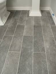 wide plank tile for bathroom great grey color great option if you can t do wood throughout