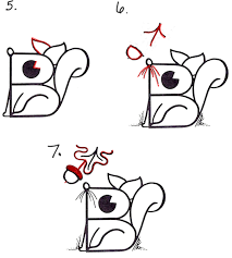 Small Picture How to Draw a Cartoon Squirrel from an Uppercase Letter B Drawing