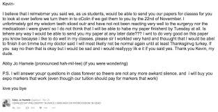 email teacher student emails her teacher while high on medications it s