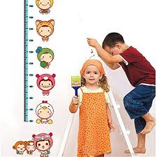Baby Height Wall Chart Gtnine Cute Baby Pattern Child Height Wall Chart Vinyl Wall