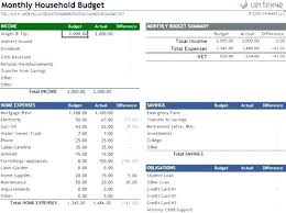 Household Budget Worksheet Excel Template Home Budget Excel Template