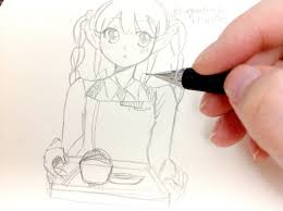 drawing anime characters easy real time youtube