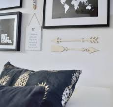 wooden arrow wall art set of two tribal arrows
