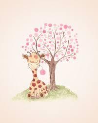 girl nursery wall art ideas. giraffe nursery art baby girl kids от thedaisyfields wall ideas