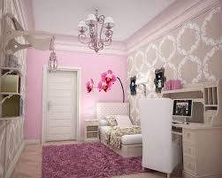 Pretty Bedroom Wallpaper Cute White And Soft Pink Bedroom With Floral Wallpaper And