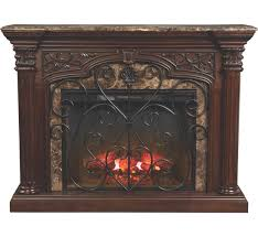 this cherry finished fireplace features hardwoo