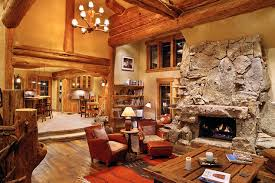 Hybrid Log House Traditional Living Room Vancouver by