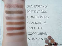 beauty bay haul emilyloula uk makeup geek shadows swatches grandstand homeing pretentious cocoa bear roulette
