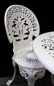 white iron outdoor furniture. Of White Cast Iron Garden Furniture Metal Benches Model 40 Outdoor T
