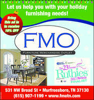Furniture Merchandise Outlet in Murfreesboro TN 615 907 1199