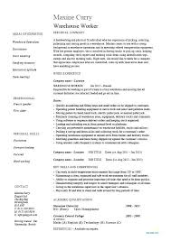 Warehouse Objective Resume Warehouse Worker Resume Objective Production Worker Resume Samples 68