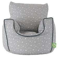 cotton grey stars bean bag arm chair with beans toddler size from bean lazy co uk kitchen home