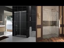 dreamline enigma x 56 60 inch fully frameless sliding shower door in brushed stainless steel finish
