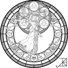 12 Pics Of Legend Of Zelda Stained Glass Coloring Pages Disney