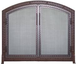 home and furniture modern arched fireplace screen at uniflame single panel wrought iron arch top