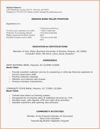 Entry Level Bank Teller Resume Free Template Resume Banking Free