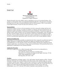 Tenure Recommendation Letter From Student Example Faculty Job Announcement