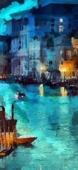 art-classic-painting-water-lake-night-blue