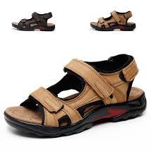 cior mens leather sports sandals fisherman breathable sport beach sandals plx05 khaki 47