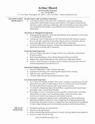 Army Mechanical Engineer Sample Resume Security Resume Format Inspirational Download Army Mechanical 6