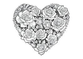 love mandala coloring pages of hearts free heart colouring printable i you