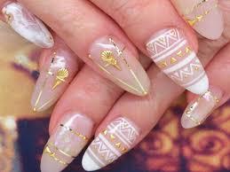 夏ネイルの最強カラー白ゴールド Nails 夏ネイルネイルクリア