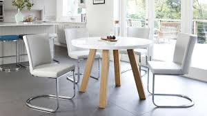 great round white dining table modern 4 seater white gloss and oak dining table uk