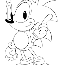 Sonic Coloring Pages Printable With Sonic Coloring Pages Free