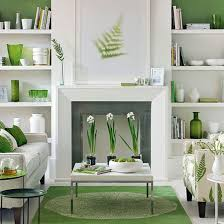 Green And White Living Room | White Living Rooms, Living Rooms And ...