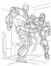 After getting his ears gnawed off by a robot mouse at. Iron Man Fight With Another Robot Coloring Page Netart