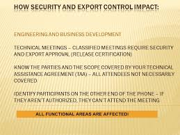 Compliance Crossroads Where Security And Export Control Meet