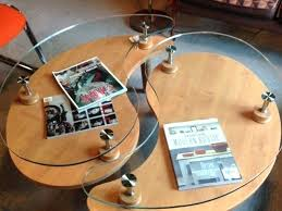 yin yang coffee table wood and glass yin yang coffee table nuevo yin yang coffee table