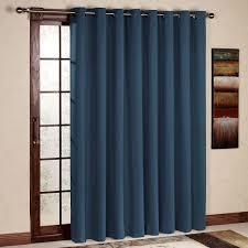 rhf wide thermal blackout patio door curtain panel sliding door curtains antique bronze grommet top