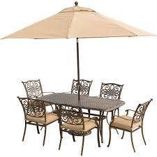 Aluminum Outdoor Dining Table Hanover Monaco 7 Piece Aluminum Outdoor Dining Set With