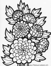 Small Picture Mum Flower thecoloringbarn Coloring Pages Pinterest