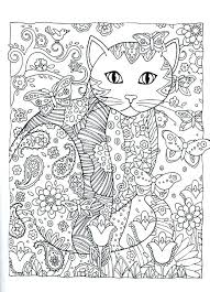 kitty cat coloring page cartoon pages for book s printable
