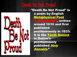 death be not proud poem death be not proud
