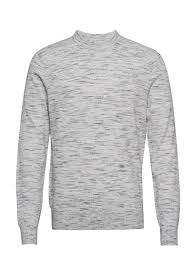 Light Grey Dye Structure Space Dye Sweater