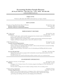 Resume Objective For Students Sample Student Inspire You How Create