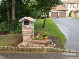 stone mailbox. Stone Mailbox. I Don\u0027t Love The Work, But Color Combos Of Arched Topstone And Colorful Flower Planter To Right Are Attractive Mailbox