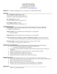 Resume Middlel Teacher Examples Google Image Result For Bunch
